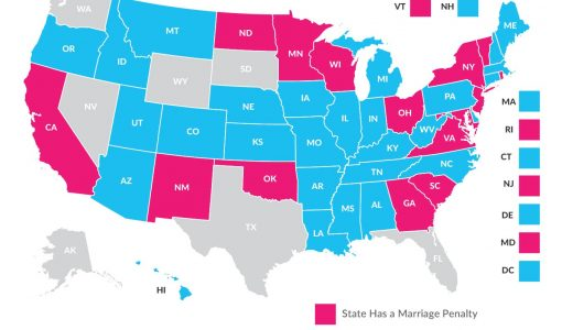 State marriage penalty, state marriage penalties, does your state have a marriage penalty 2021