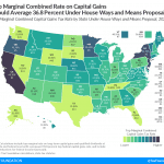 Top Combined Capital Gains Tax Rates Would Average 36.8 Percent Under House Dems' Plan